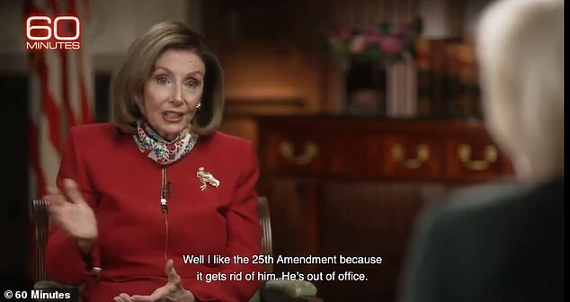 Nancy Pelosi says she wants Donald Trump impeached to stop him running for president again
