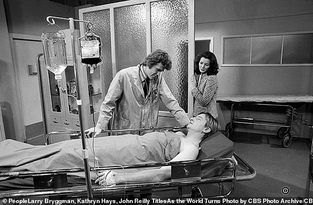 Early on: Reilly played the role of Dr. Dan Stewart on As The World Turns