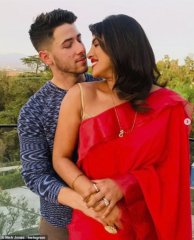 Grateful: Priyanka Chopra, 38, feels 'grateful' for husband Nick Jonas, 28, as she talks about how quarantining together strengthened their relationship before saying she wants 'as many kids' as she can have with him
