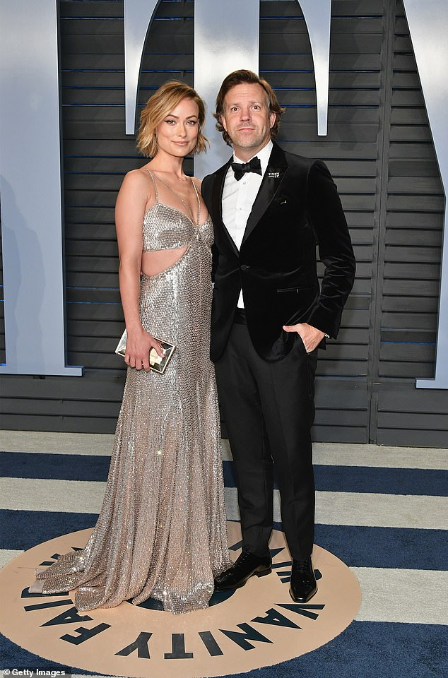 Rumours:Insiders recently claimed the actress, 36, and former fiance Jason Sudeikis, 45, (pictured in 2018) argued over her 'close' bond with her colleague-turned-lover, 26