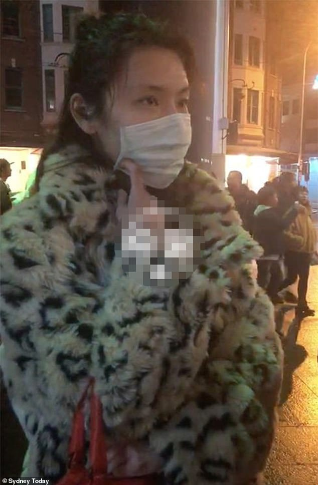 Zeng was ambushed on the streets of Sydney by up to 20 of her victims in mid-2019 (above) however she wasn't arrested and charged until last May