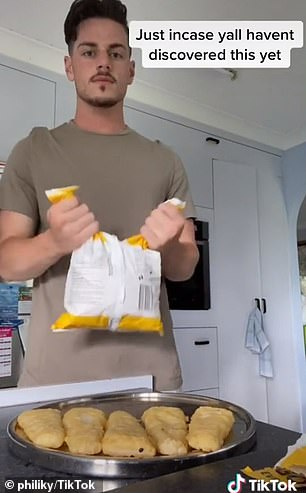 Philip Quinn, from Queensland, shared a now-viral TikTok video of himself cutting a bag of frozen chips half-way down the middle instead of snipping across the top like most people do.