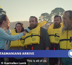Tasmanians are also mocked in the tongue-in-cheek ad