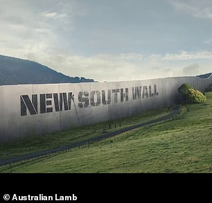 The New South Wall divides NSW from Queensland in the satirical advert