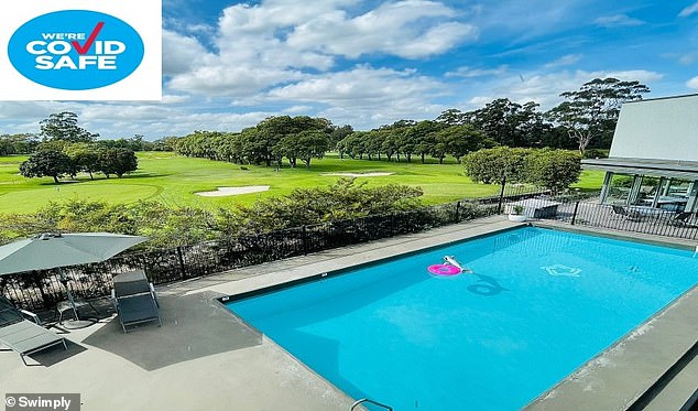 Some of the pools come complete with floaties, while others come with tennis courts and even golf course views
