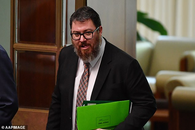 Liberal MP George Christensen (pictured) claims President Trump is being censored by 'left win media' an 'tech tyrants'
