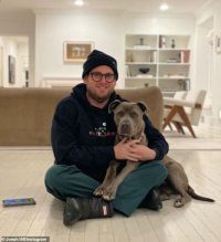 Jonah Hill snuggles up next to his new dog Fig and offers a heartfelt thank you to animal rescue