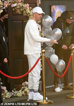 Guests: Joe Gilgun, who is best-known for playing Rudy in Misfits and stars as Vinnie O'Neill in Brassic, cut a casual figure as he arrived at the wedding