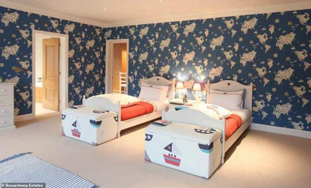 Lots of room for little ones: This playful bedroom suite is perfect for children staying at the sprawling mansion