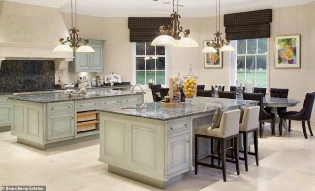 Casual dining: If the owner doesn't want to eat in the formal dining room, there is also the option of this family kitchen