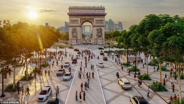 The Mayor of Paris, Anne Hidalgo said the transformation will not be complete until 2030, after the French capital hosts the Summer Olympics in 2024
