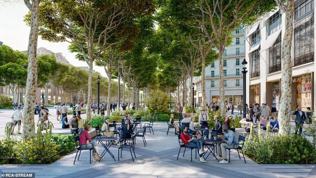 It is hoped the redesign will lower traffic and increase green space for the thousands of pedestrians who visit the avenue every day