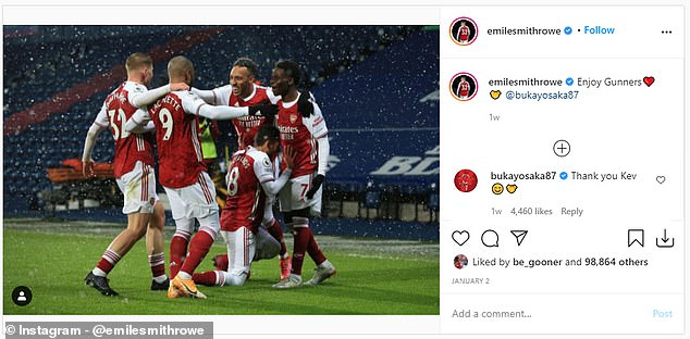 Bukayo Saka was the latest player to reference this on Instagram after they beat West Brom