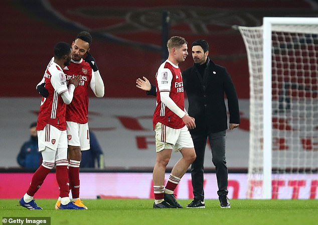 Smith Rowe netted and inspired Mikel Arteta's men into the fourth round of the competition