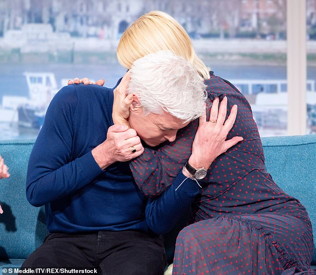 Brave: Phillip Schofield has lauded Holly Willoughby for her unwavering support after he publicly came out as gay last year