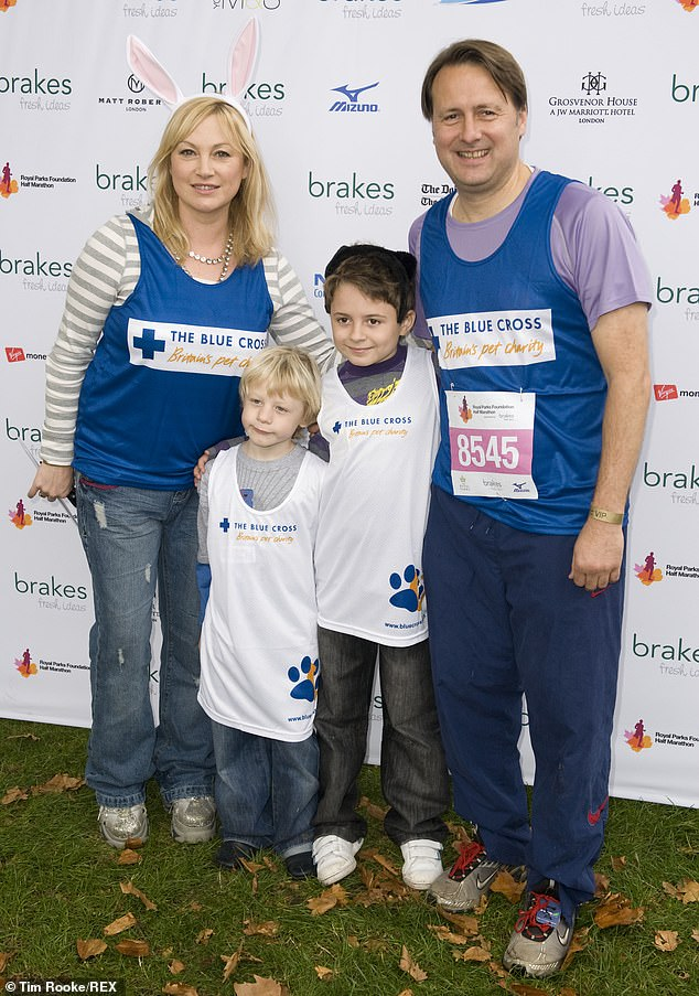 Family:Gary also revealed that he is currently battling the virus alongside his son, Jack, 20. He also has younger son - Freddie, 17, with wife and former prime-time TV presenter, Wendy Turner, 53 (pictured with his family in 2009)