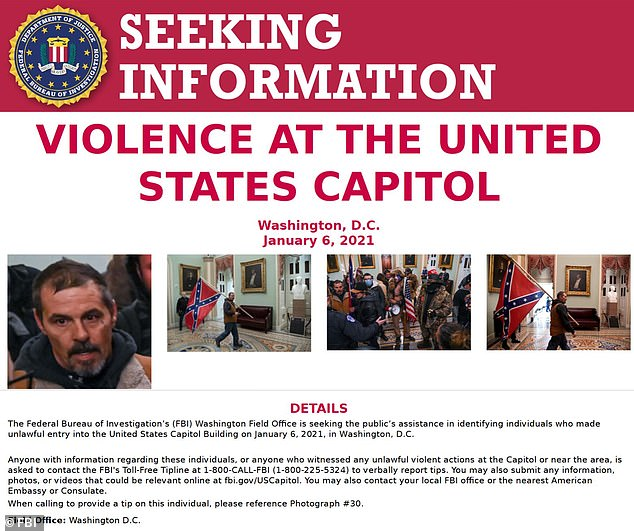 The Federal Bureau of Investigation continued to seek the public's help in identifying Trump supporters who participated in a riot on Capitol Hill last week