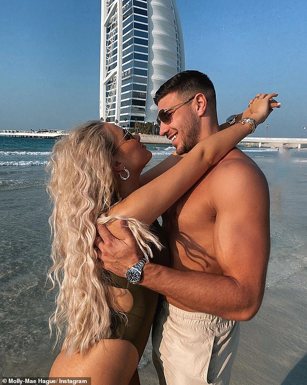 Love Island stars have reportedly been sent death threats after jetting to Dubai during the coronavirus pandemic (Molly-Mae Hague andTommy Fury pictured in Dubai last month - there is no suggestion they are the reality stars referenced)