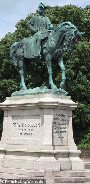 The council set up a task group to decide whether a statue (pictured) should be moved from its prominent position in the city