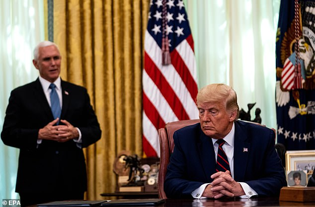 Mike Pence meets Donald Trump in the Oval Office for the first time since the MAGA riots