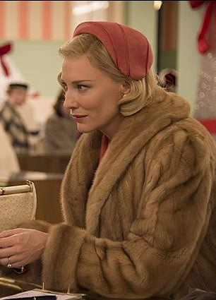 Cate Blanchett was nominated in 2016 to play a lesbian in Carol (pictured)