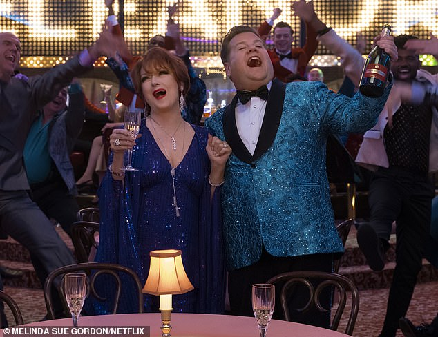 Straight actors portraying same-sex roles have been criticized by critics for years - many accused of using harmful stereotypes.  The most recent actor in the line of fire was James Corden as Broadway gay star Barry Glickman in Netflix's The Prom (pictured alongside co-star Meryl Streep)