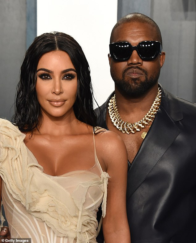 Claims: Kim was reportedly left 'embarrassed' and 'humiliated' by speculation the makeup artist was romantically linked to the rapper (pictured with Kanye in February 2020)