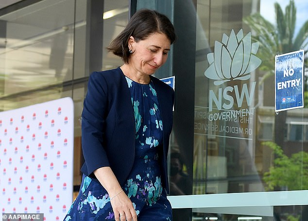 Gladys Berejiklian (pictured) said eliminating coronavirus was not possible because Australians have to be allowed to return