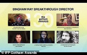Director: The Bingham Ray Breakthrough Director Award was presented by writer-director Stephen Gaghan, which was won by Andrew Patterson for The Vast of Night, which was accepted by Sharp on his behalf