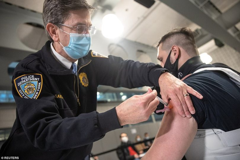 On Monday it was reported that just nine million Americans have received their first jab - far short of the 20 million people the federal government hoped to have vaccinated by the end of December 2020