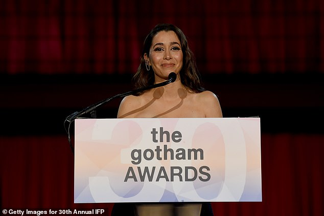 Cristin presents:The Gotham Audience Award was presented next by Palm Springs star Cristin Milioti, which was voted by online by IFP members