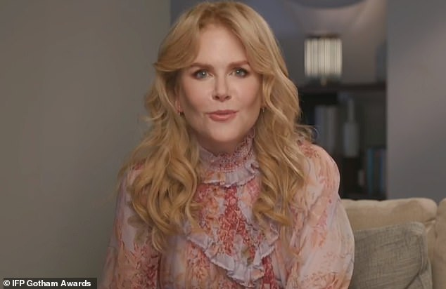Nicole presents:Nicole Kidman presented, via video, the Industry Tribute to her director of The Prom, Ryan Murphy, before footage of his numerous movies and TV shows