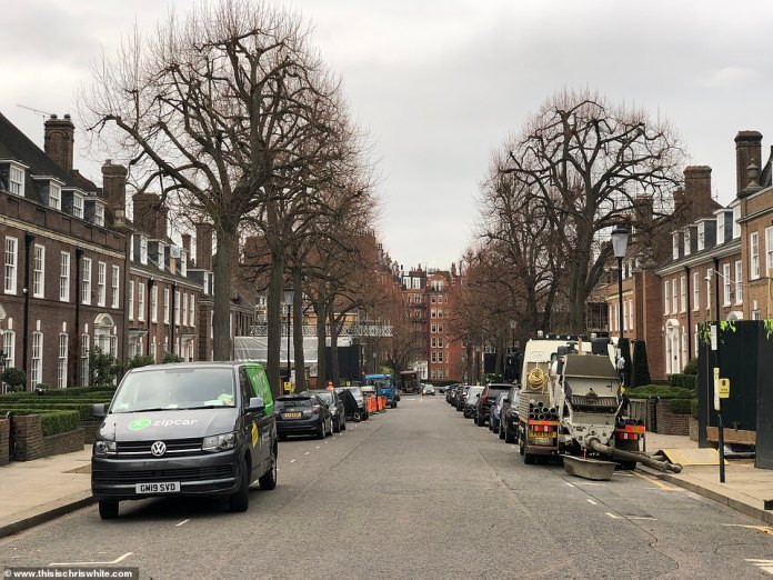The street is home to 24 exclusive properties, worth a combined £ 1billion, where there are seven demolition and renovation projects