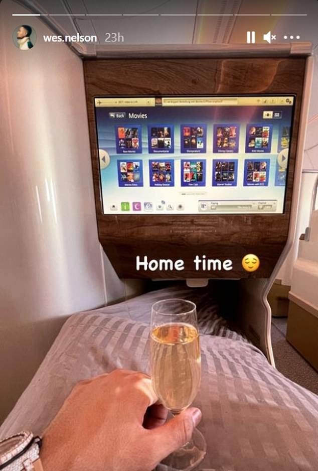 Love Island's Wes Nelson was among those flying home ahead of the new rules from 4am Tuesday