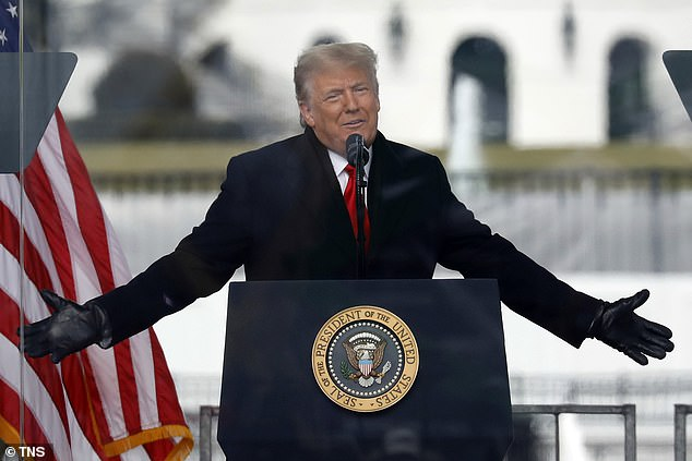 U.S. President Donald Trump speaks to his supporters at the Save America Rally on the Ellipse on Wednesday, Jan. 6, 2021 near the White House in Washington, D.C