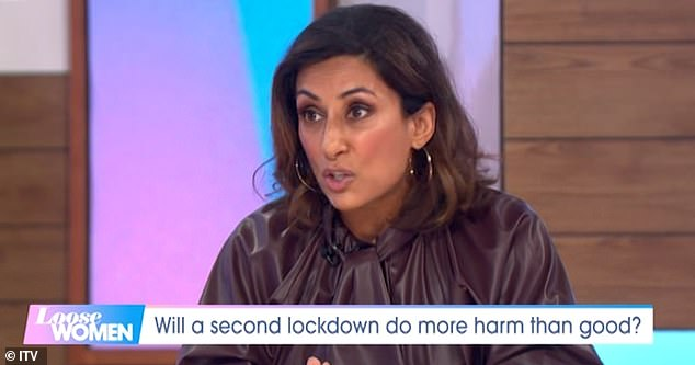 Revealing: Saira appeared to take a thinly-veiled swipe at Loose Women on Saturday after announcing her departure from the ITV show this week to 'reassess her priorities'
