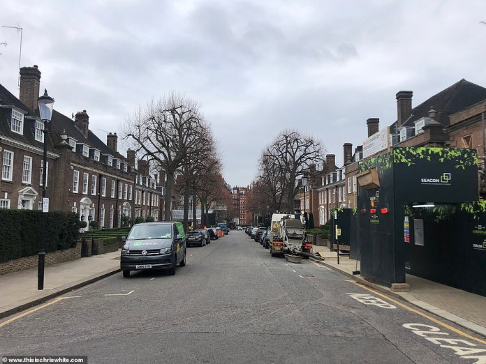 Ilchester Place is located in the celebrity enclave of Holland Park, west London, and is nicknamed 'Millionaires Row', which was crowned the UK's most expensive road in 2019, according to Lloyds Bank