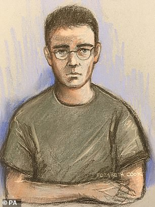 Relowicz, seen in a court artist's sketch at Hull Magistrates' Court in October 2019