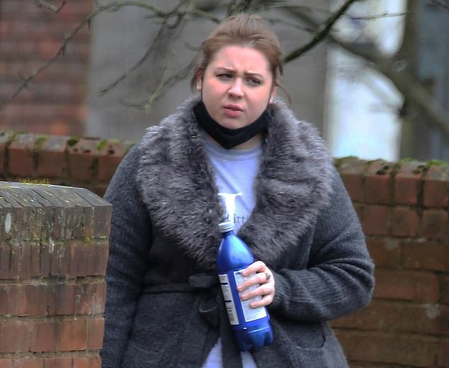 Millie's mother Kirsty Burdett allegedly told a social worker Everson was 'heavy handed,' with her daughter. Miss Burdett denies a charge causing or allowing the death of her daughter by failing to take such steps as would be reasonably expected of her to protect the child from the risk of significant harm