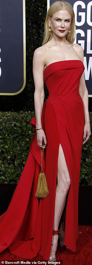 Glamor: Nicole Kidman reportedly in talks to play Lucy in an upcoming biopic;  photographed at the 2020 Golden Globes