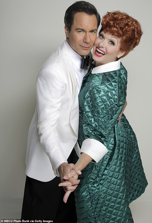 Flashback: In the final season of the Will And Grace revival, Debra emulated Lucille Ball as I Love Lucy;  pictured with co-star Eric McCormack