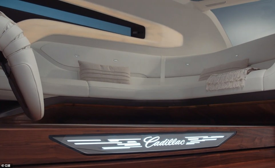 Inside the vehicle, passengers have their vital signs read via biometric sensors that are embedded in the leather seats