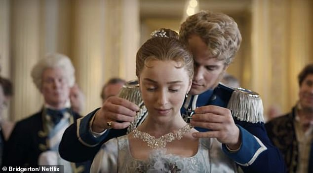 Fit for a princess! The UK-based jeweller estimated that with at least five diamonds of approximately 10ct each used in Daphne's large white gold necklace gifted to her by Prince Friedrich it would be worth $6.1million in the real world