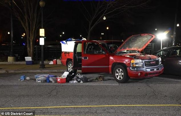 Police allegedly uncovered homemade bombs inside of Coffman's pick-up truck while it was parked near the Capitol during last Wednesday's siege