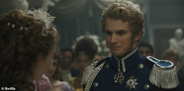 Speaking of which: Eagle-eyed fans have discovered that Bridgerton guest star Freddie Stroma (R), who plays Queen Charlotte's (Golda Rosheuvel) nephew Prince Frederick of Prussia, also has a Potter past