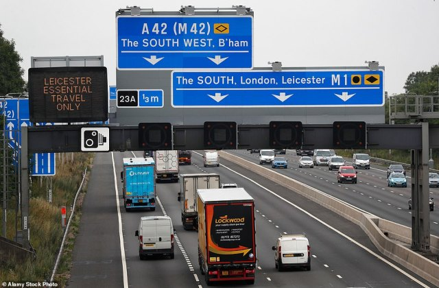 Leicester also saw a ten per cent drop in congestion. The research looked at congestion in the biggest cities in the UK and found that there was a 24 per cent drop overall in traffic levels