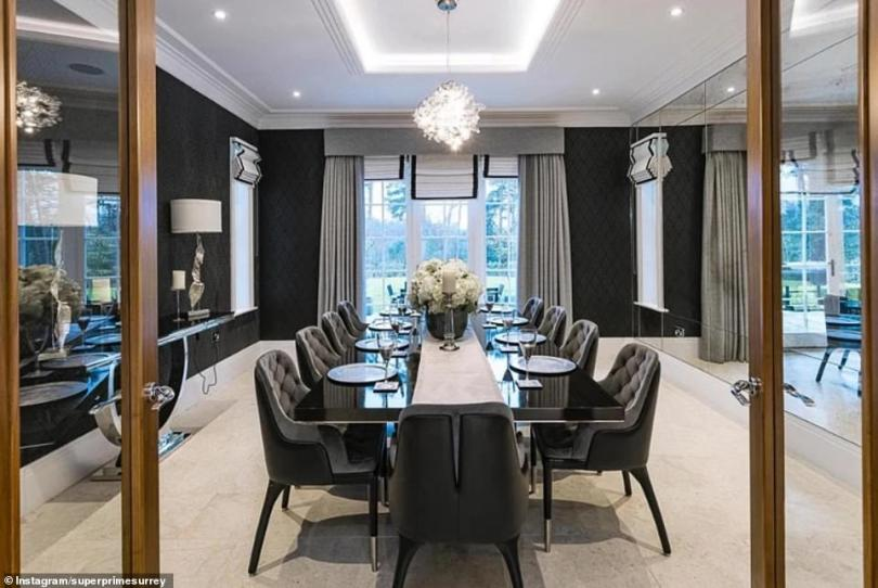 Dining room: The home features a ten-seater dining room set in a palatial room