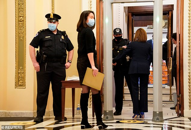 Speaker Pelosi stopped for Capitol Police to wand her