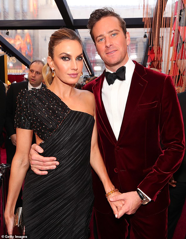 Disturbing: Hammer and Elizabeth Chambers were still married at the time the alleged messages from Hammer were apparently sent to the woman