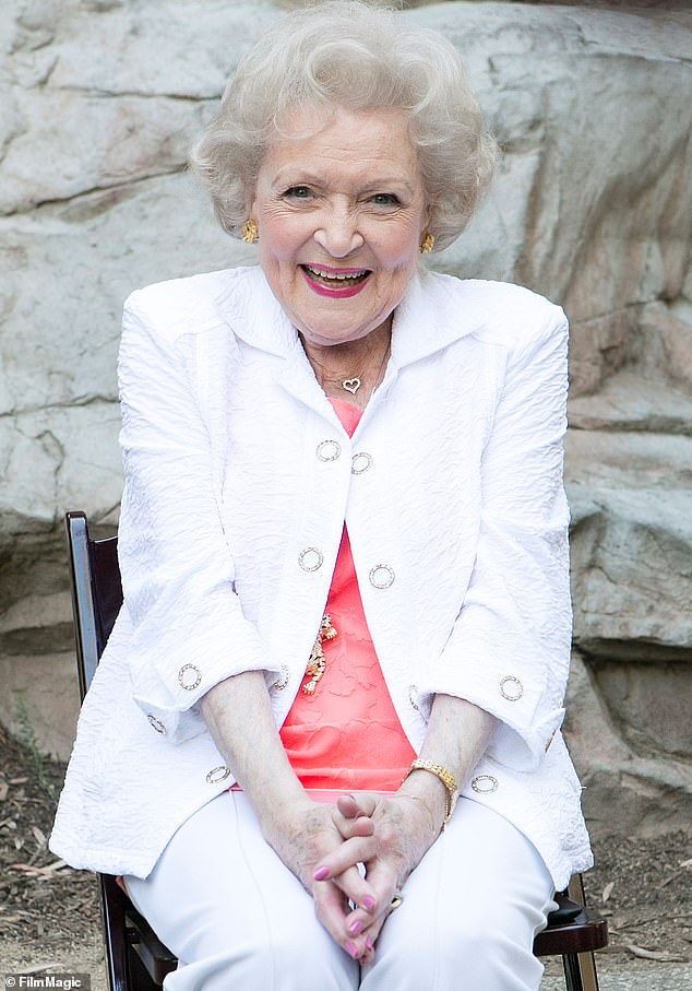 Ray of sunshine: National sweetheart Betty White shared that she is still feeling in fine fettle with her birthday around the corner; pictured in 2015